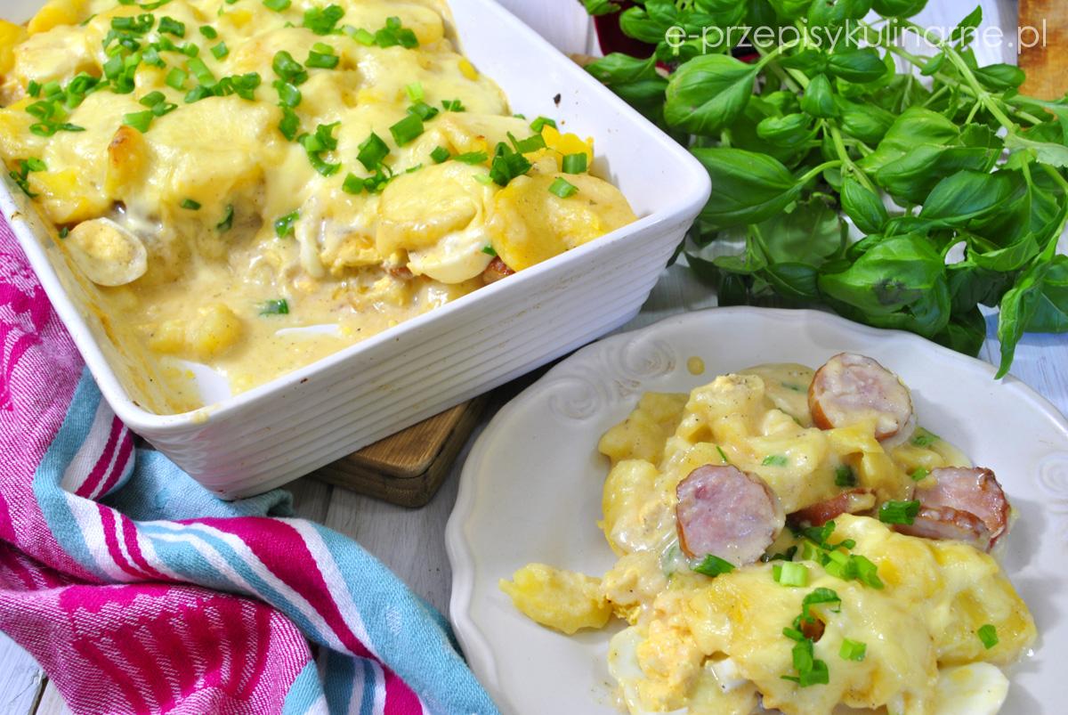 Zapiekanka z ziemniaków i jajek