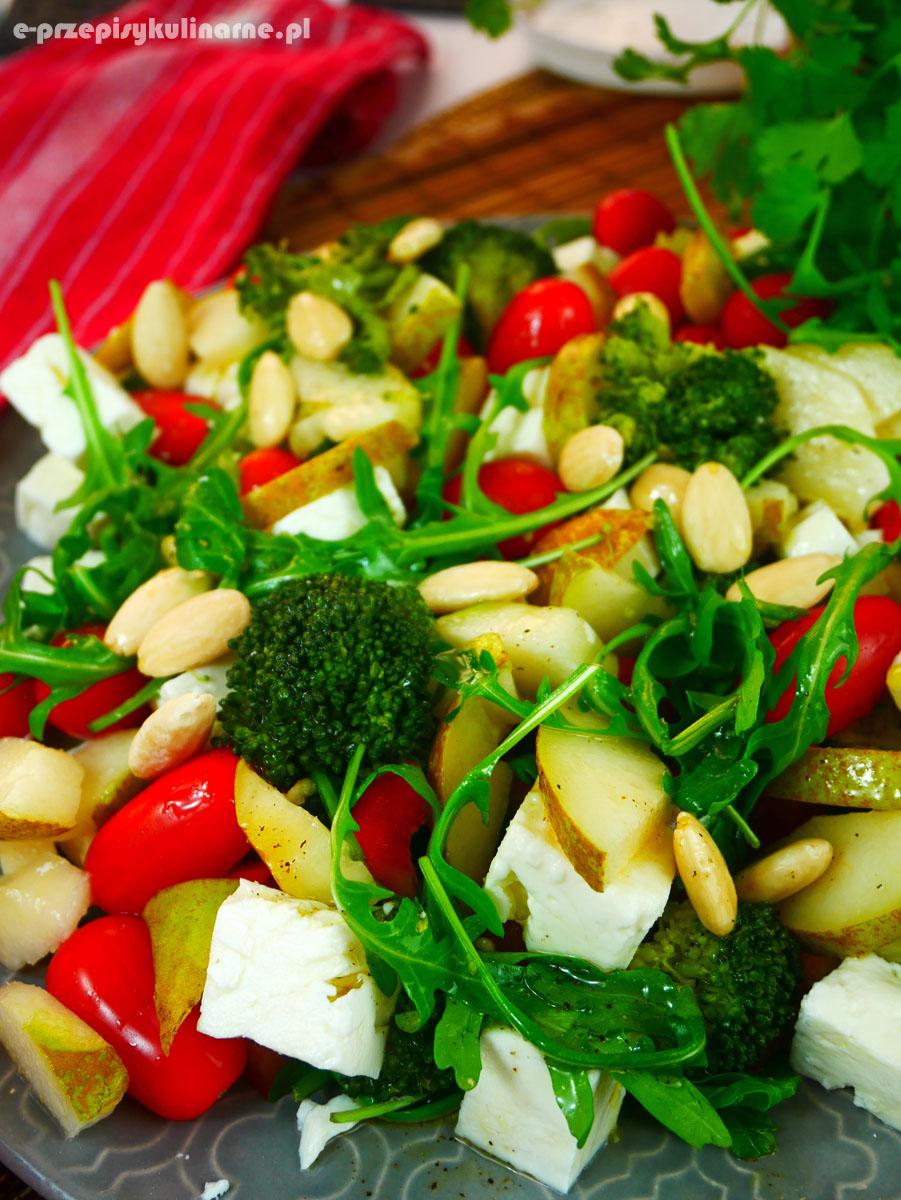 Sałatka z brokułami i sosem winegret