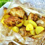 Udka pieczone z ziemniakami w rękawie