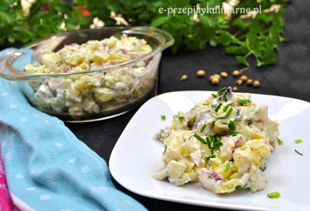 Szybka sałatka z ziemniaków i rzodkiewki (136 kcal)