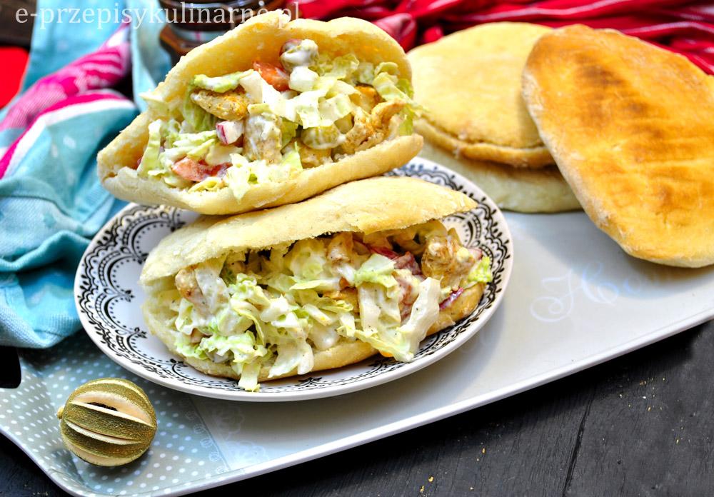 Chlebki Pita Z Salatka Gyros