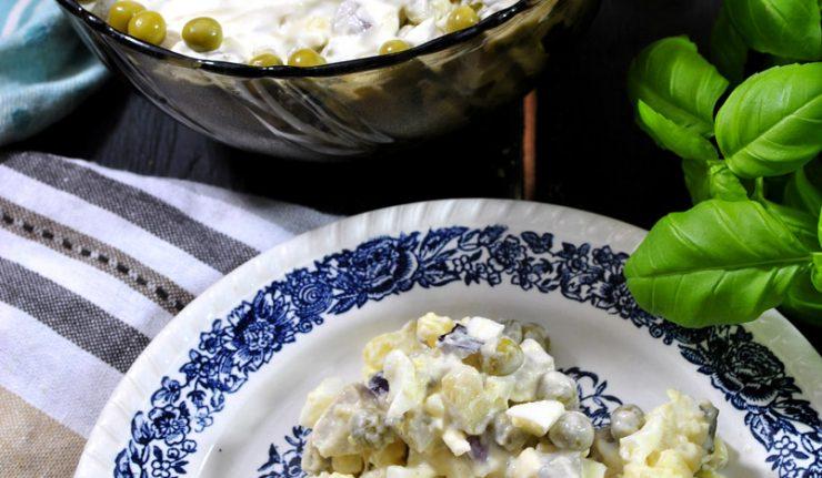 Sałatka śledziowa z ziemniakami
