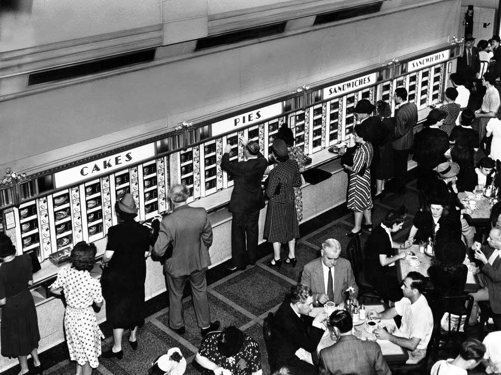 The Automat w Nowym Jorku by J. Baylor Roberts 1942