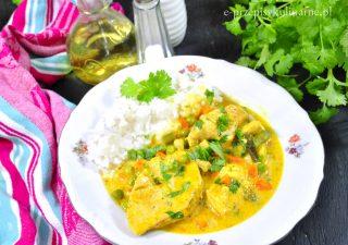 Szybki kurczak curry z warzywami