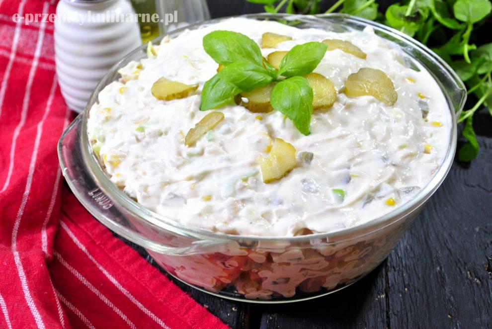Salatka Jajeczna Z Tunczykiem I Kukurydza E Przepisykulinarne Pl