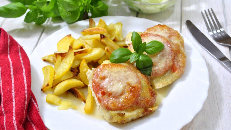 Ryba zapiekana z pomidorami i mozzarellą