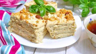 Krakersiak z orzechami - ciasto bez pieczenia