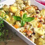 Zapiekanka z ziemniakami i kalafiorem