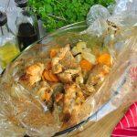 Szynka z warzywami pieczona w rękawie