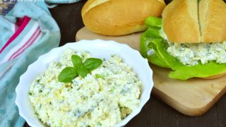 Pasta z jajek i twarogu