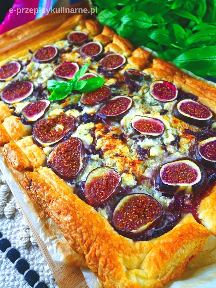 Tarta z ciasta francuskiego z figami - przepyszna i szybka