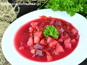 Zupa buraczkowa z ziemniakami – przepis na prostą zupę z burakami