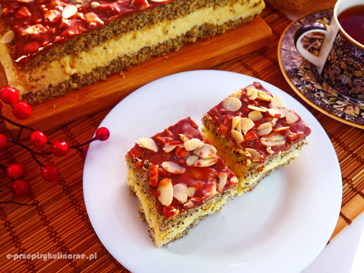 Ciasto Makowa Fantazja – sernik gotowany na makowym biszkopcie