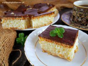 Ciasto Kokosek bez pieczenia – przepis na deser a la bounty