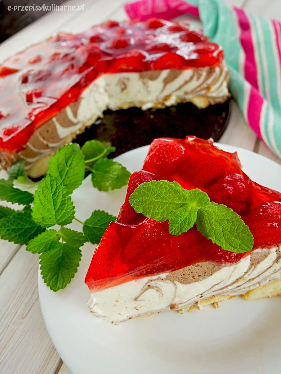 Ciasto Pani Zebra - pyszny jogurtowiec bez pieczenia