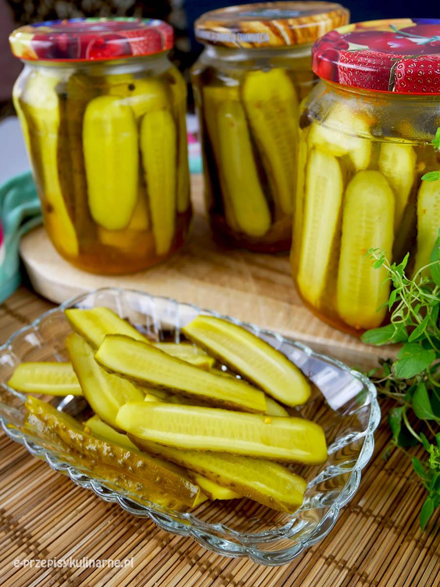 Ogórki kanapkowe z curry - do słoików na zimę