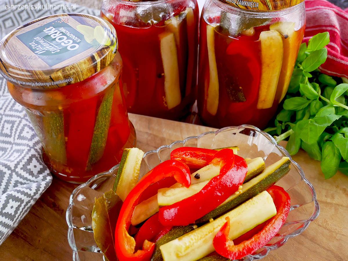 Cukinia po baciarsku – cukinia z papryką w ketchupie do słoików na zimę