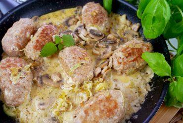 Kotlety folwarczne - zrazy z mięsa mielonego z pieczarkami