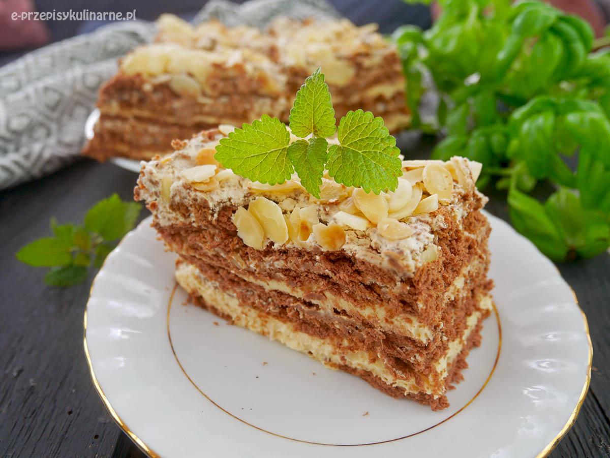 Ciasto Słodki Amant - herbatnikowiec bez pieczenia