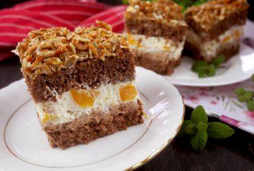 Ciasto Kuszący Junaczek – biszkopt z czekoladą i słonecznikiem w karmelu