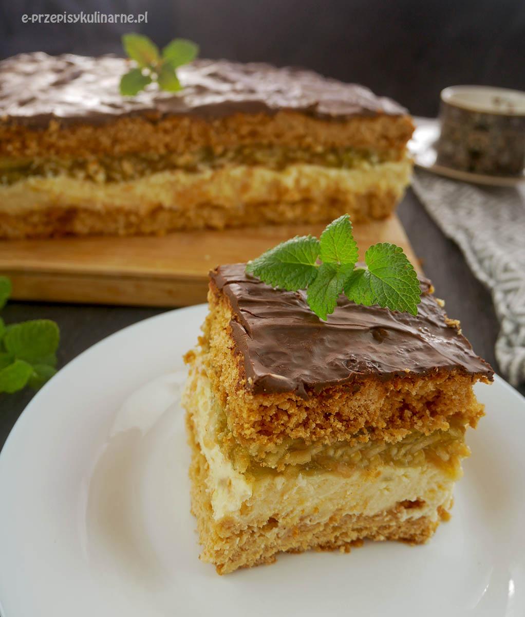 Ciasto Miodowe Lata – miodownik, sernik i szarlotka w jednym